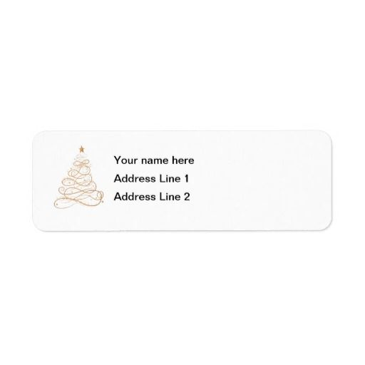Gold Christmas Tree Avery Label | Christmas Gifts | Pinterest