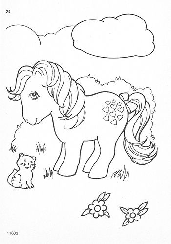 My Little Pony G1 Coloring Pages My Little Pony Coloring