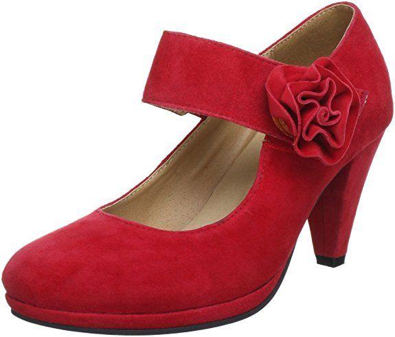 3001514, Damen Pumps, Rot (Rot 021), 38 EUAndrea Conti