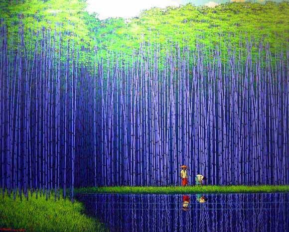blue bamboo forest.china bhe