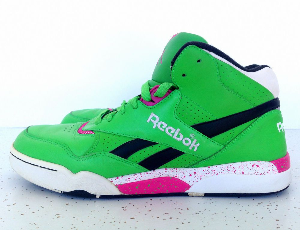 competitive price e1cc2 40ec3 Reebok Reverse Jam Series Hexalite Men s Size 9 1 2 Pink Green Sneakers  Shoes  Reebok  AthleticSneakers