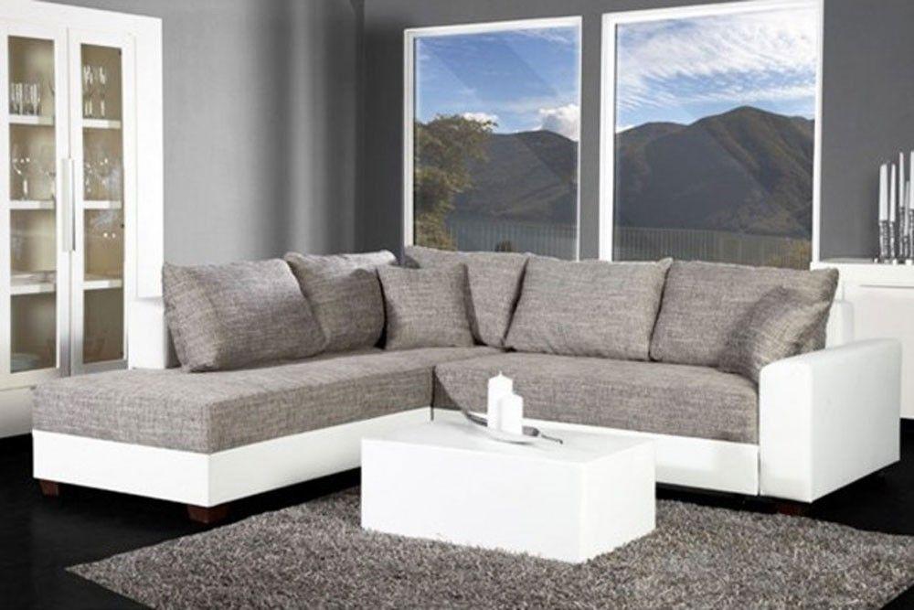 Canapé Dangle Convertible Blancgris Vigo Idées Pour La Maison - Canape convertible blanc et gris