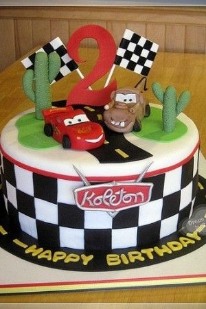 Disney Cars B Day Cake Ideas For Boys