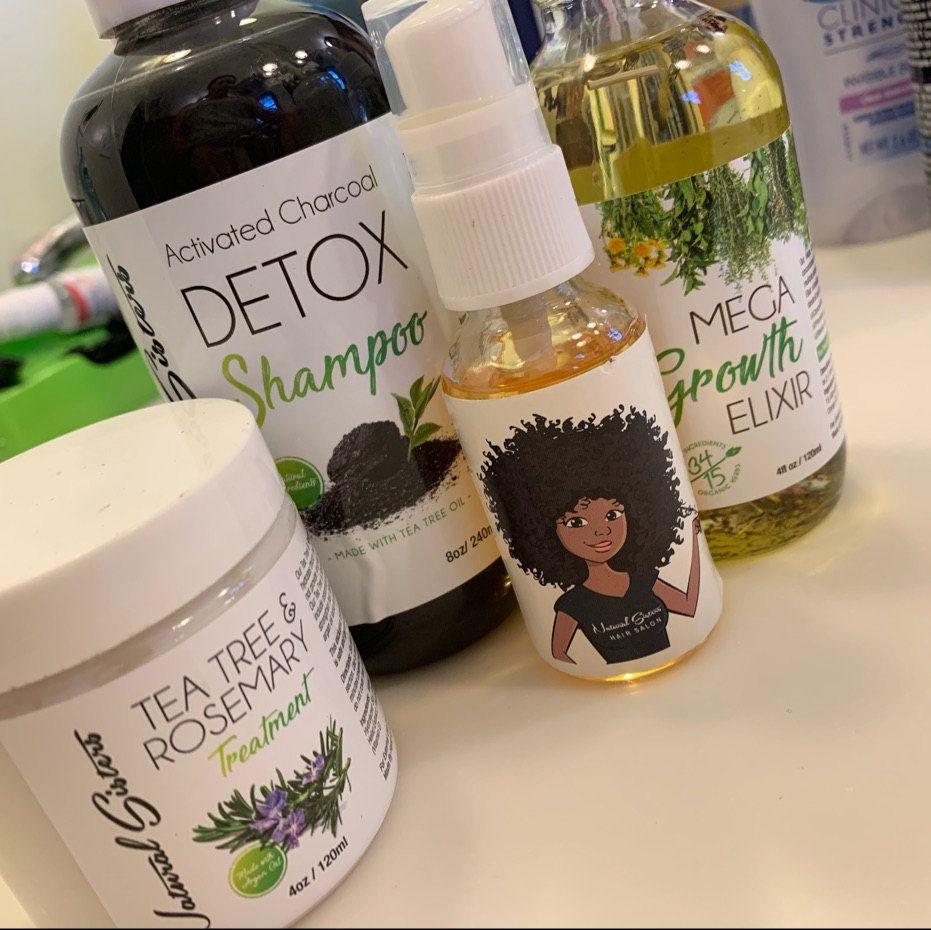 Natural Mini Hair Growth Kit 3 Pcs Set Mega Growth
