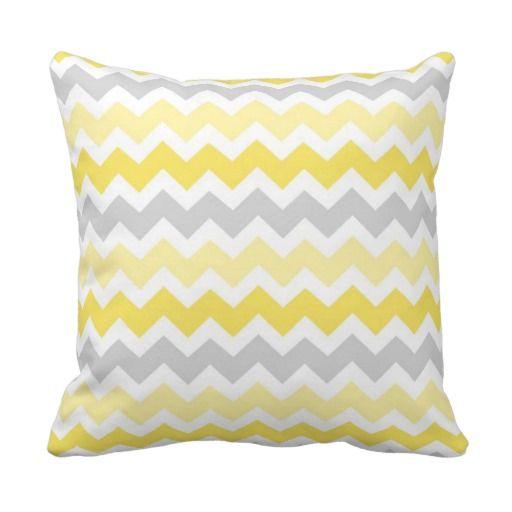 Lemon Gray Chevron Decorative Pillow Designer Throw Pillows Gorgeous Decorative Pillows Cheap Prices