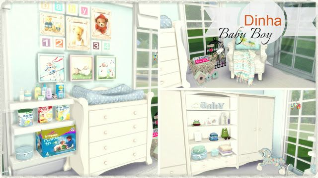 Sims 4 - Baby Boy Nursery | The Sims 4 | Sims baby, Sims 4