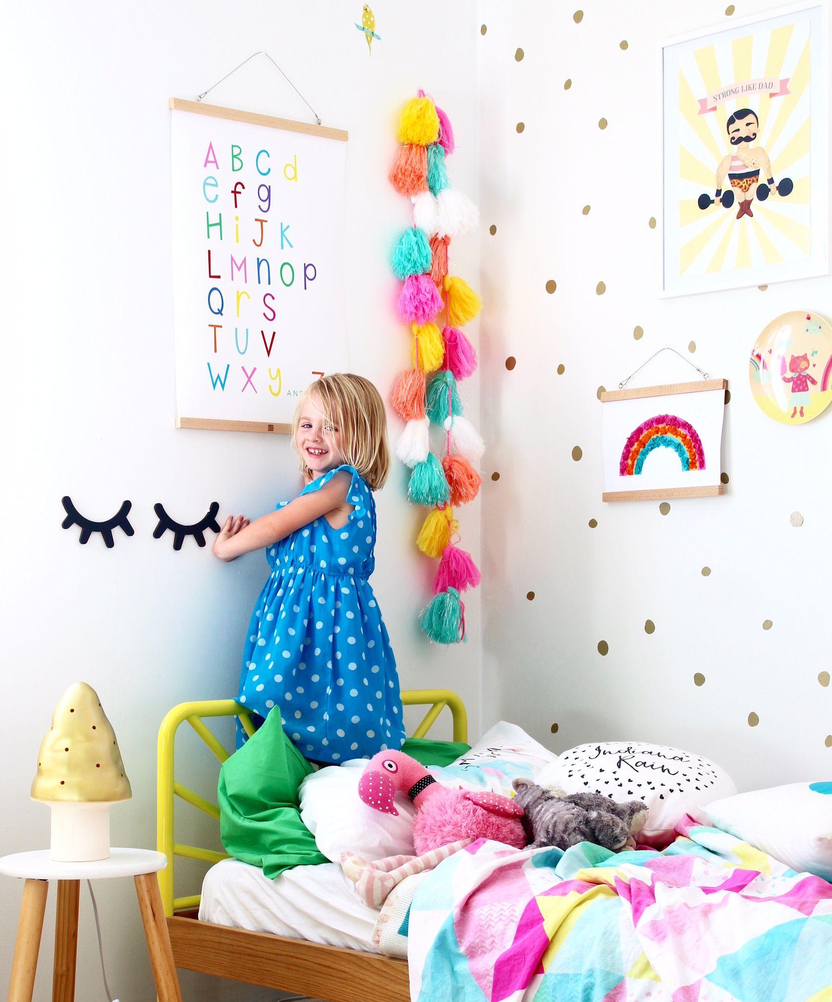 Digital Nursery Art Print Rainbow Alphabet Chart Kids Interior