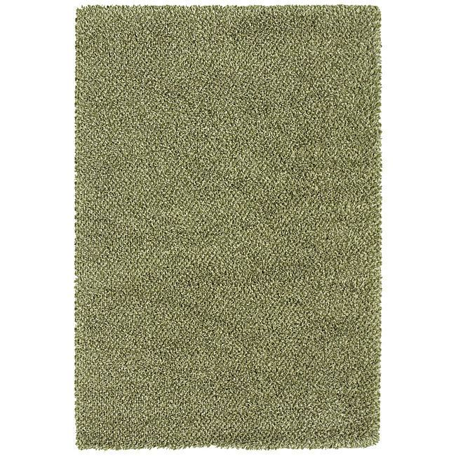 Style Haven Manhattan Tweed Green/ Ivory Shag Rug (7'10 x 11'2) (Synthetic Fiber, Solid)