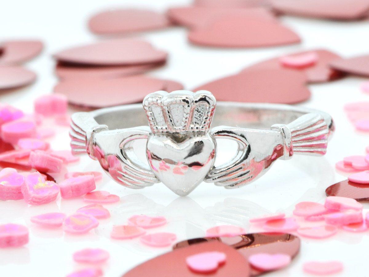 Sterling Silver Claddagh Ring, Claddagh Jewelry, Sterling Claddagh ...