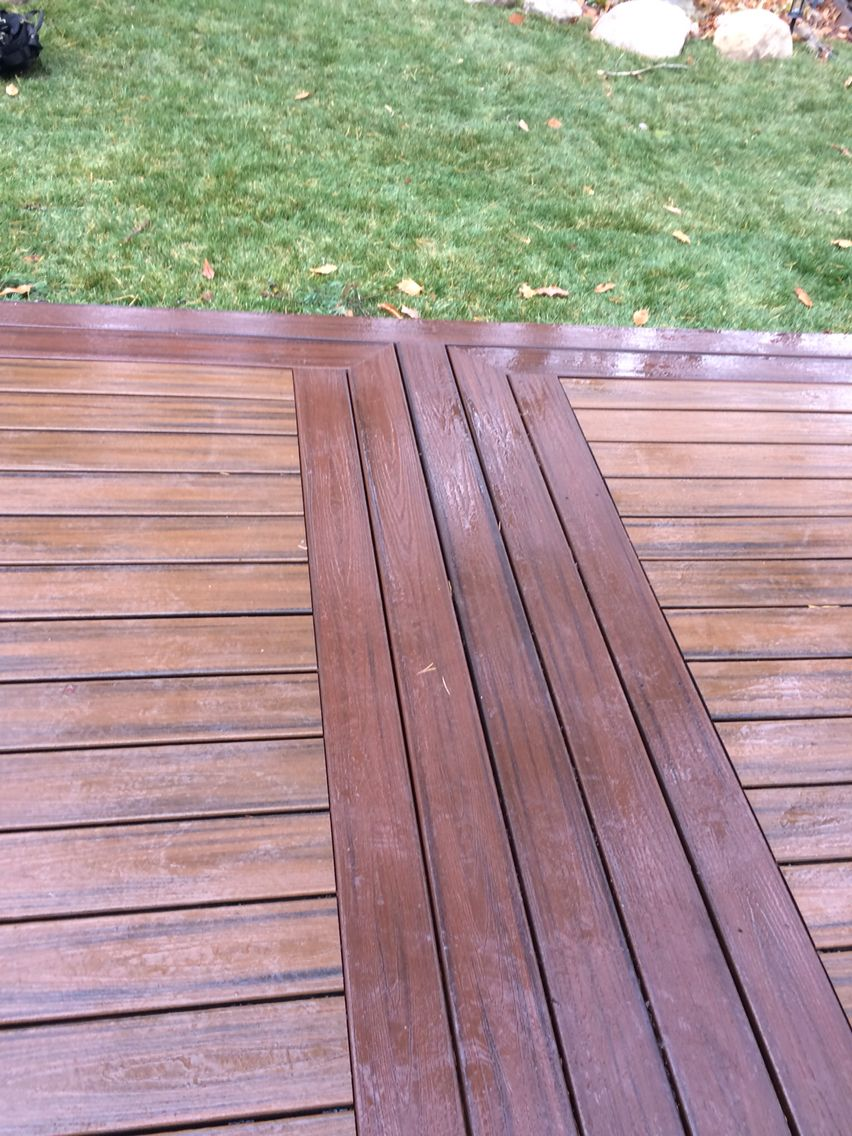Trex spiced rum and lava rock greatbigdecks pinterest for Compsite decking