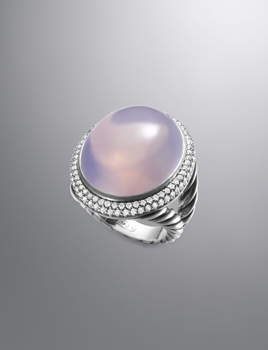 David Yurman Signature Oval Ring in Lavender Moon Quartz ...