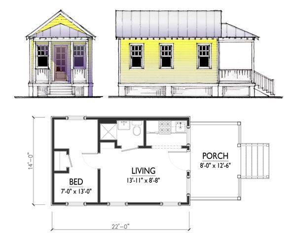 Google Image Result For Http Www Tinyhousedesign Com Wp Content Uploads 2008 06 Cusato Cot Small Cottage House Plans Carriage House Plans Cottage Floor Plans