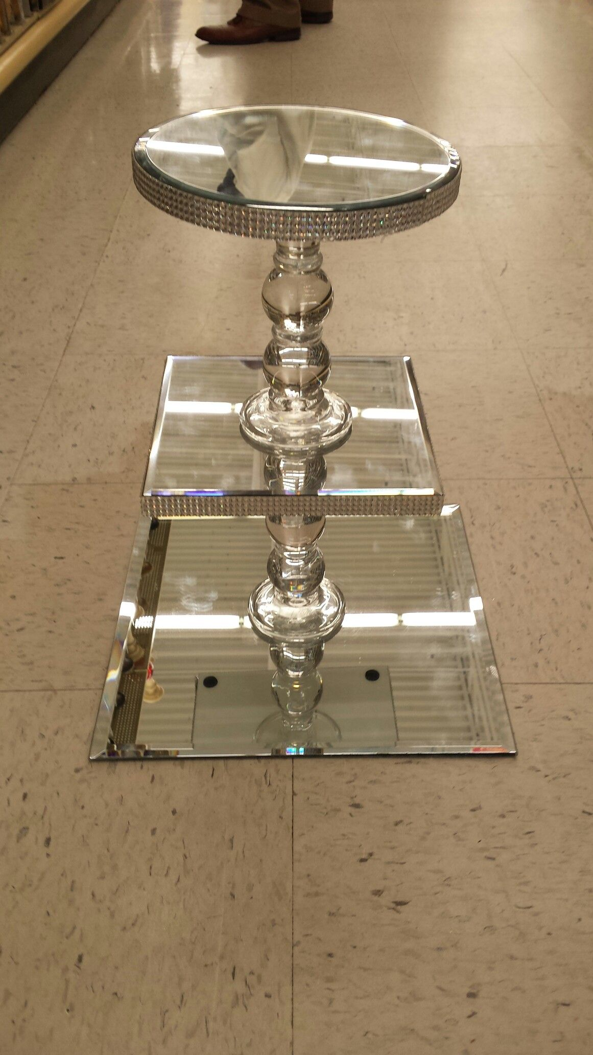 Cake stand will decorate with ribbons or flowers found