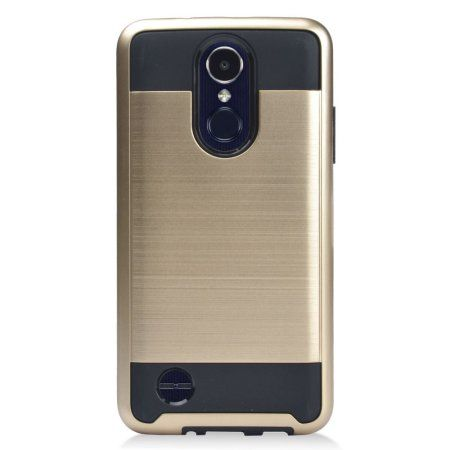 Mundaze Gold Brushed Metal Double Layered Case For LG LG