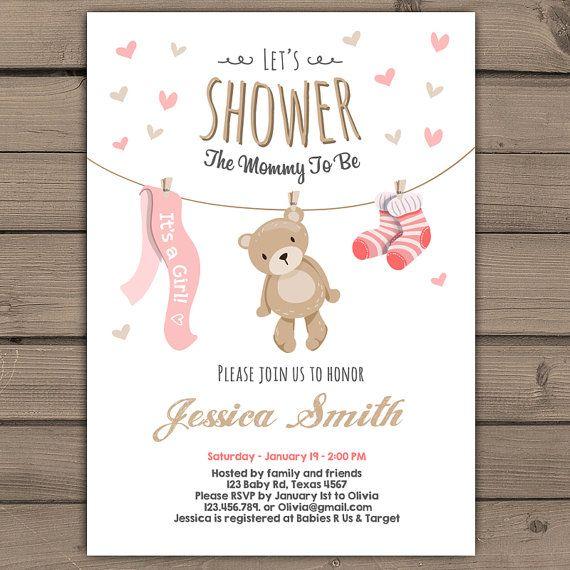 Resultado De Imagen Para Invitacion Baby Shower Niña Baby