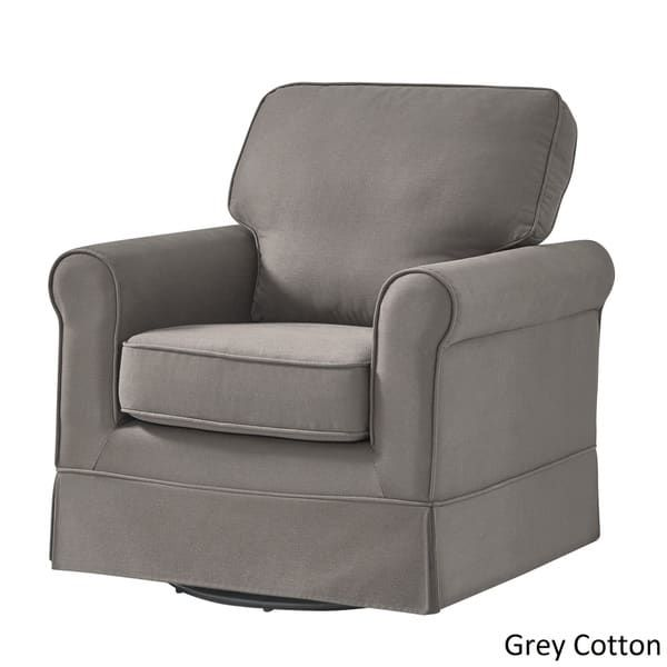 Charmant Fallon Rolled Arm Cotton Fabric Swivel Rocking Chair By INSPIRE Q Classic |  Decor Ideas | Pinterest | Living Room Chairs, Rocking Chairs And Recliner