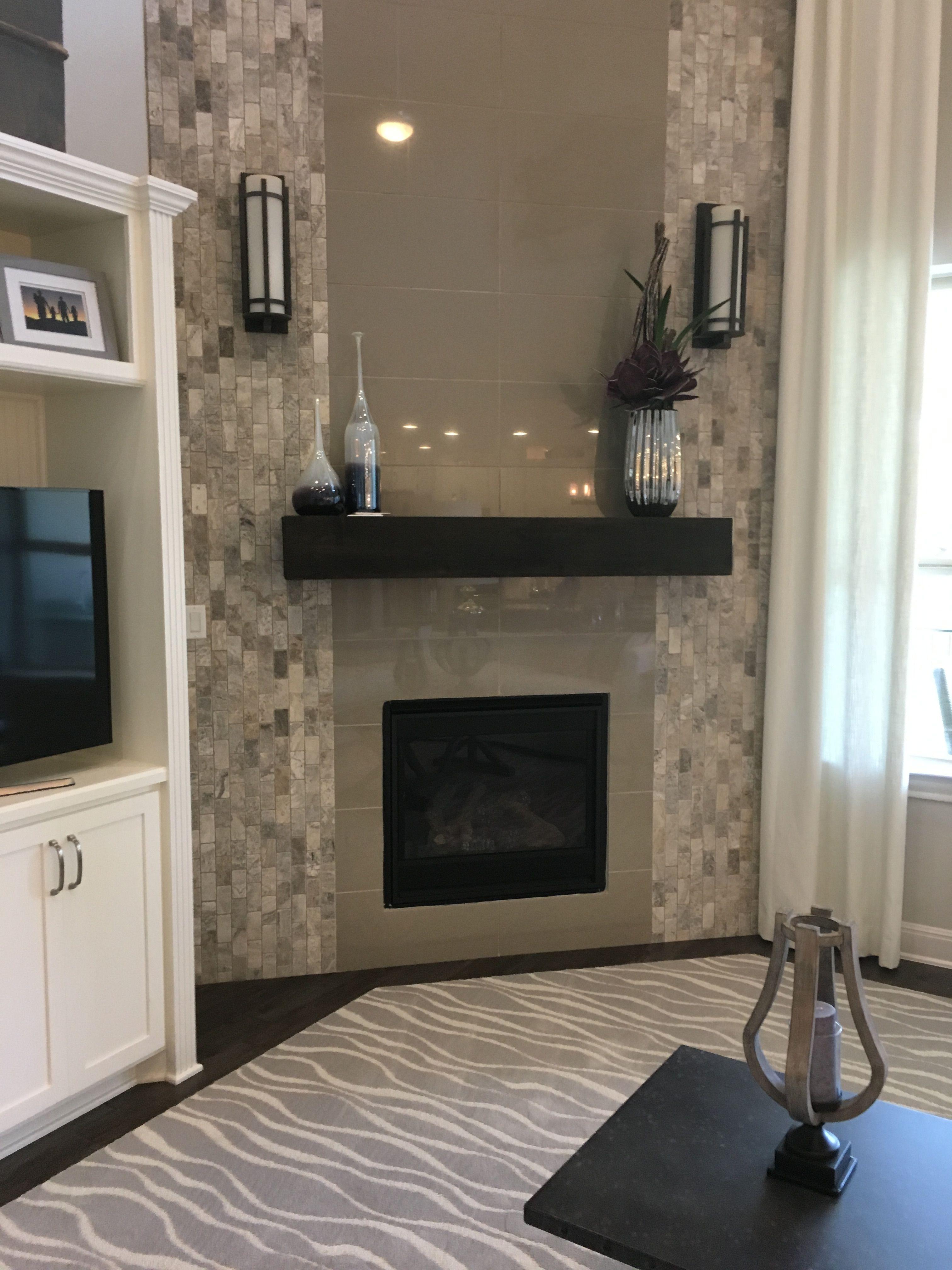 Living room decor - grey /gray & white glass and stone ...