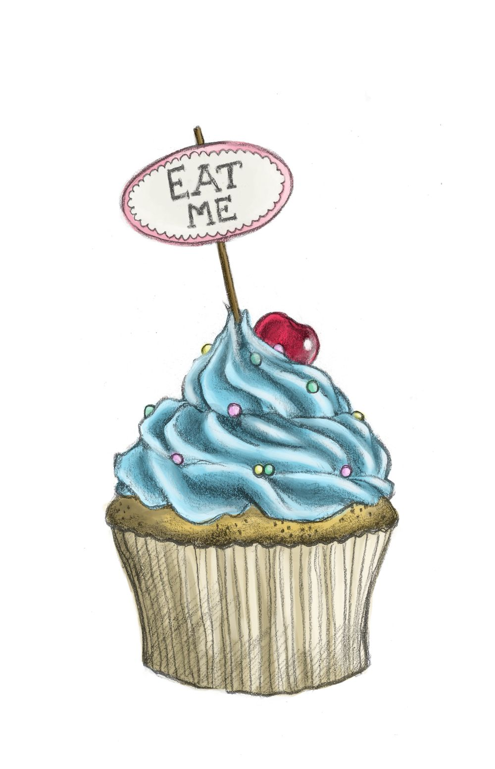 Images For > Cute Drawings Of Cupcakes | Still Life Ideas ...