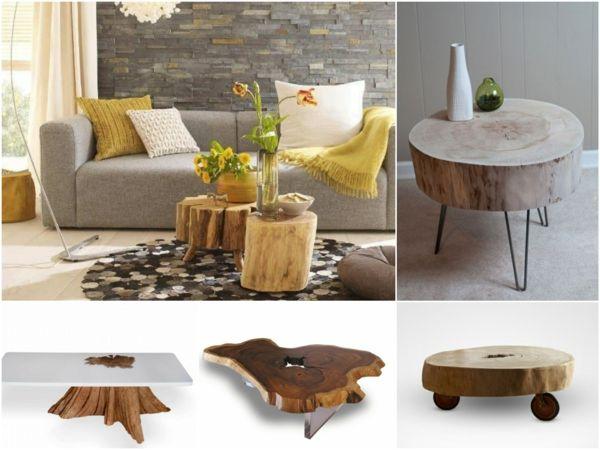baumstamm tisch der eyecatcher im rustikalen wohnzimmer pinterest baumstamm tisch. Black Bedroom Furniture Sets. Home Design Ideas