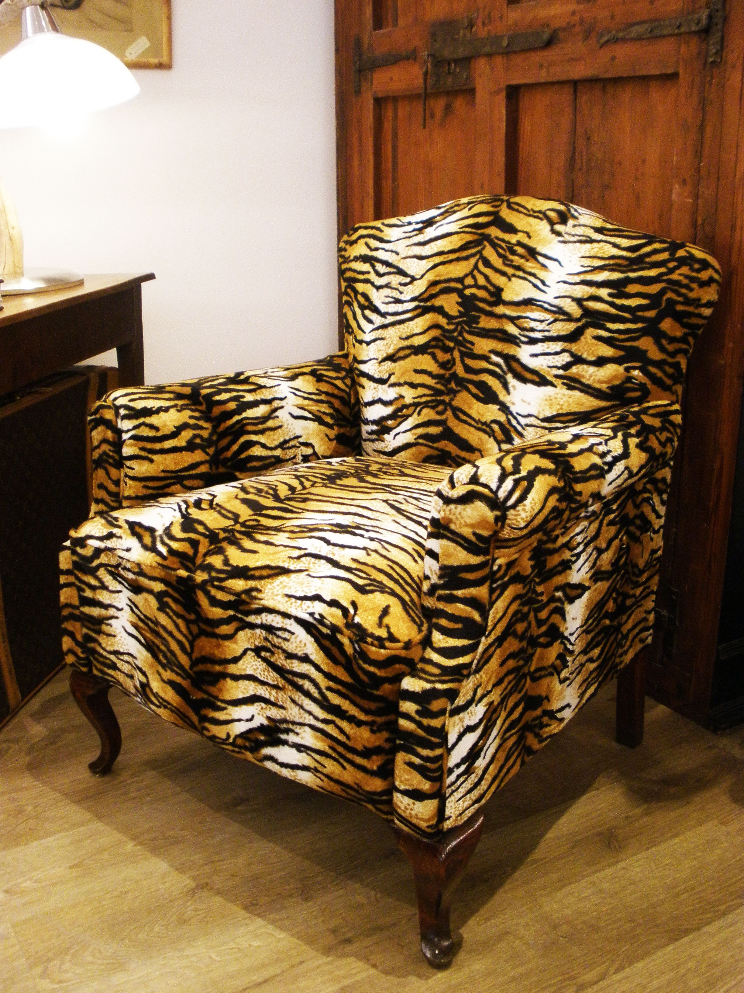 Butaca Tapizado Animal Print Brocante Home Decor Furniture  # Muebles Palma De Mallorca