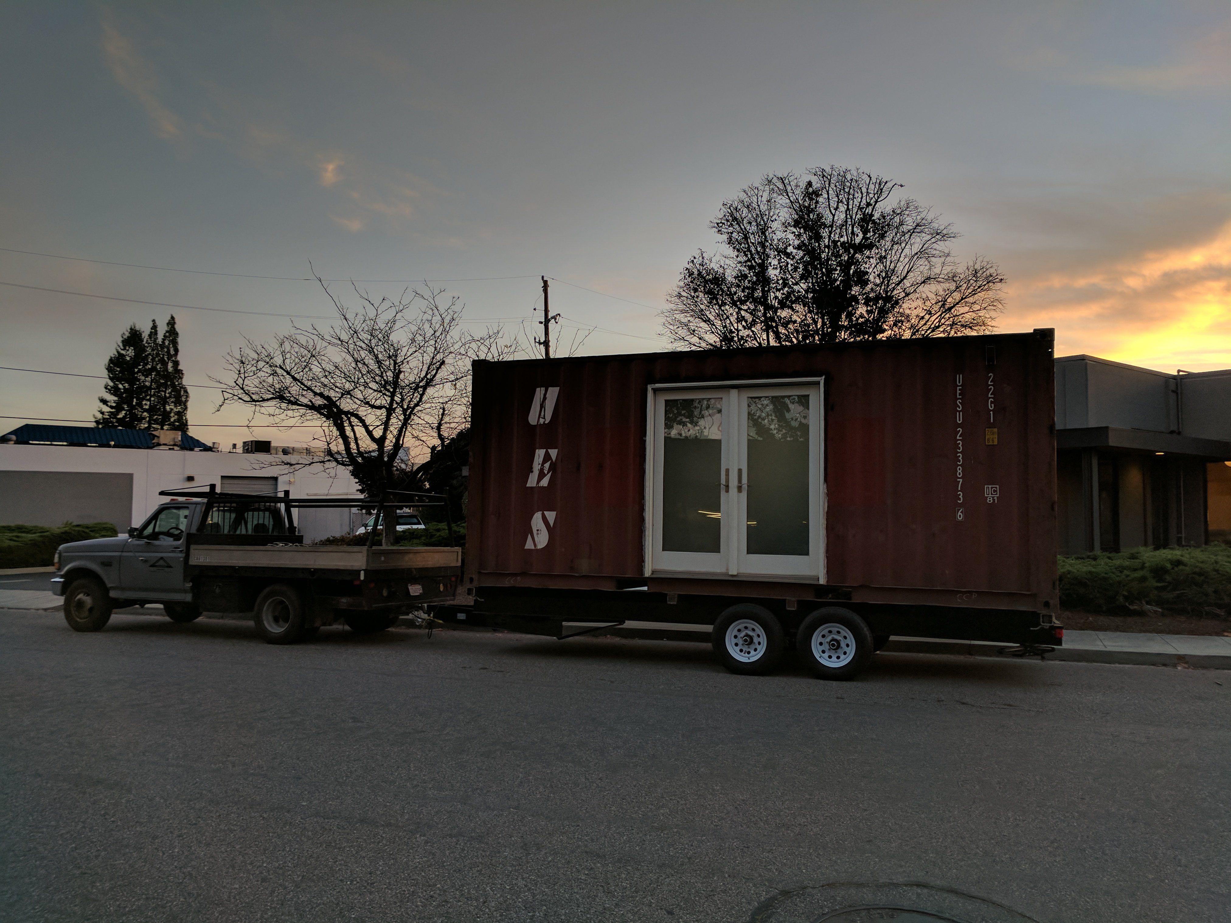 Do Wheels Make A Shipping Container Home An Rv Oakland