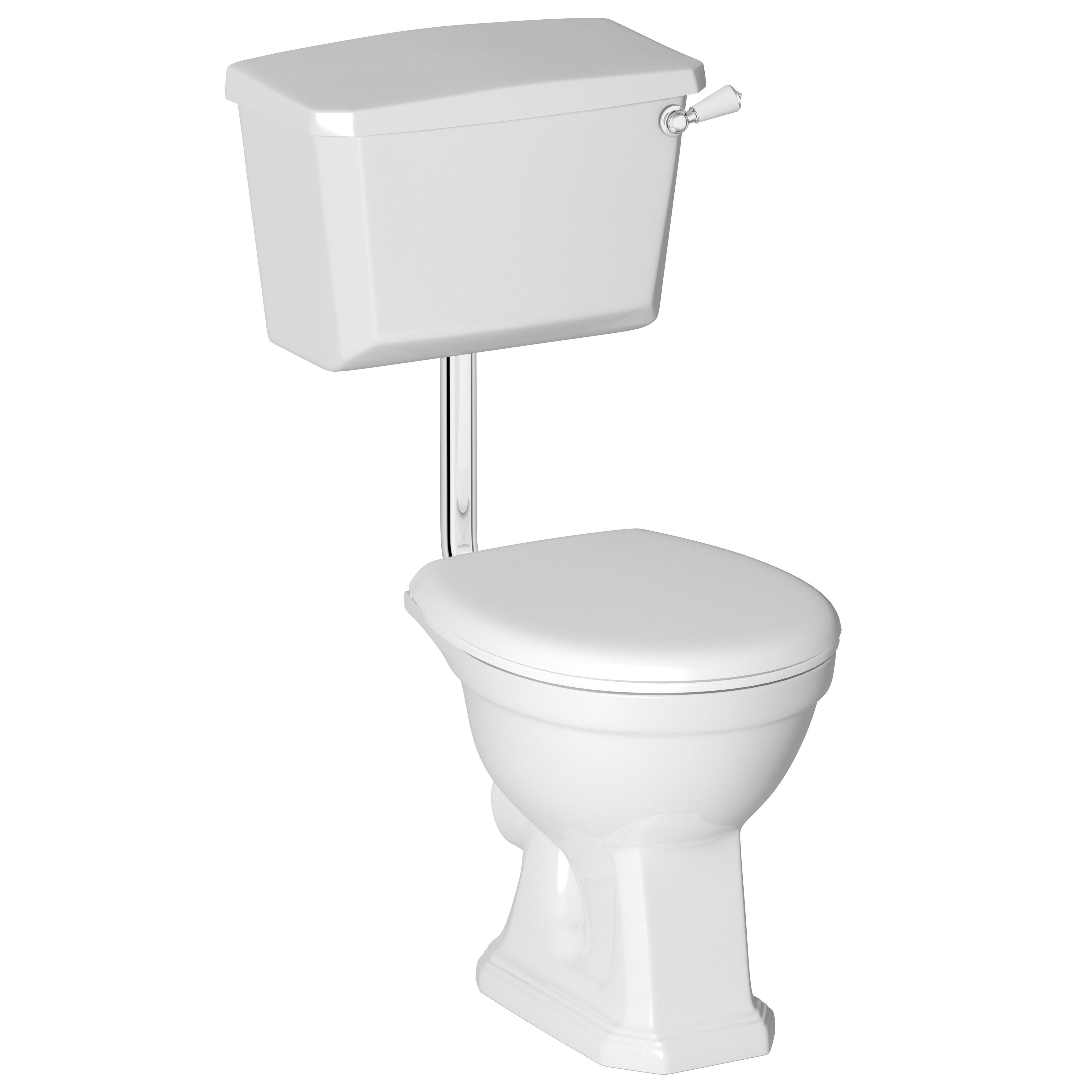 Cooke Lewis Serina Traditional Low Level Toilet With Soft Close Seat Departments Diy At B Q Traditional Toilets Low Level Toilet Toilet