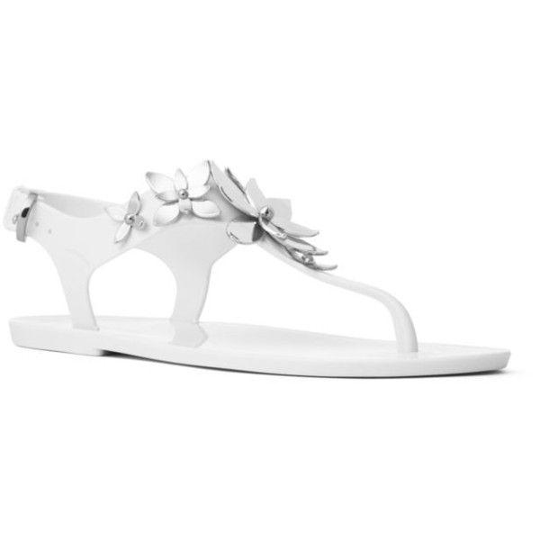 135248f1254c Michael Michael Kors Optic White Silver Lola Jelly Thong - Women s ( 48) ❤  liked