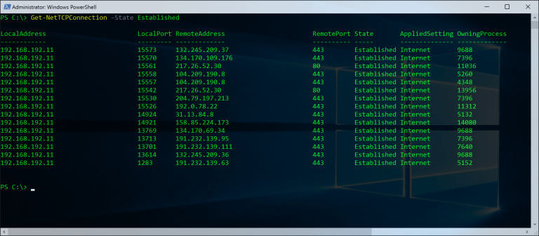 PowerShell Networking Netstat | Projects to Try | Batch file, Linux