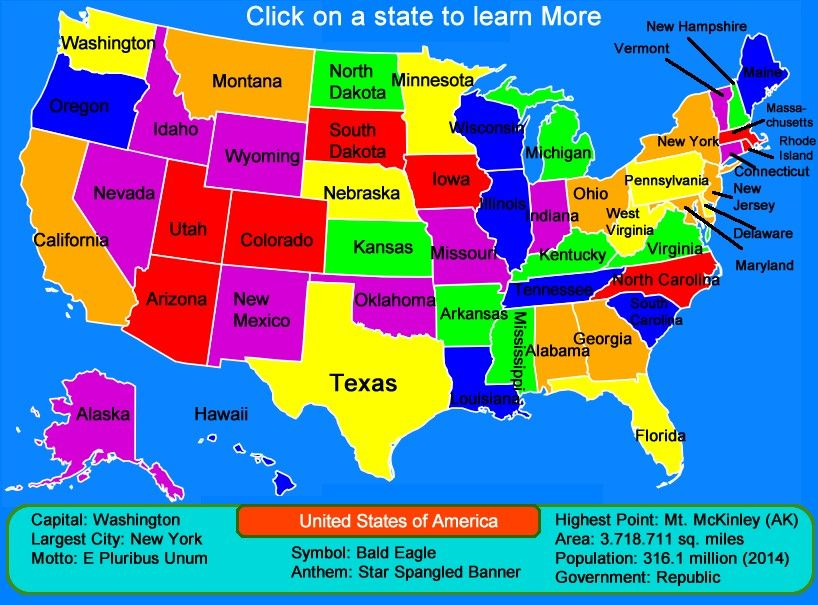 Interactive Map Of United States.Pin By Makailah On Sights N Things Pinterest United States Map