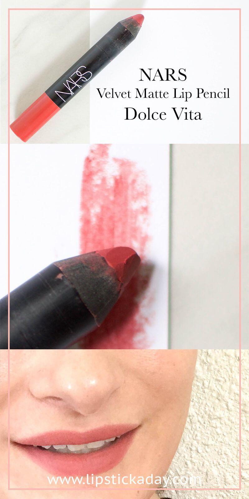 the iconic nars velvet matte lip pencil