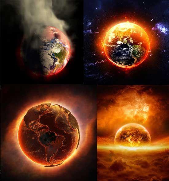 燃燒的地球 psd 東西