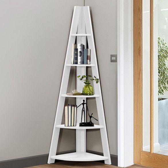 Birlea Nordic White Oak Corner Bookcase | NORCBCWHT