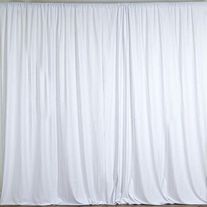 10 Feet Wide Polyester Backdrop Drapes Curtains Panels With Etsy In 2020 Panel Curtains Curtain Backdrops Colorful Curtains