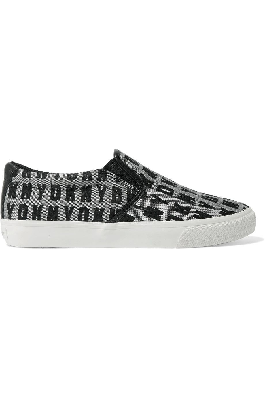 New Fashion Style Of Dkny Woman Jacquard And Leather Platform Slip-on Sneakers Black Size 6 DKNY Hot Sale Cheap Online Outlet Top Quality DPLhf
