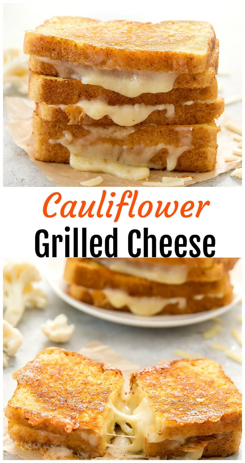 Cauliflower Grilled Cheese Sandwiches Recipe Vegan Grilling
