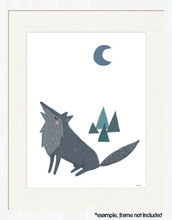 similar to wolf nursery art woodland creature theme 85x11 art print for nursery kid Items similar to wolf nursery art woodland creature theme 85x11 art print for nursery...