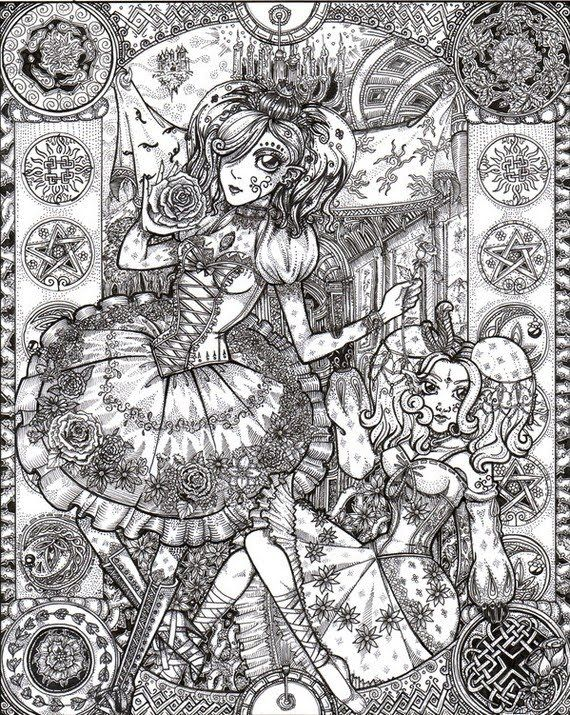 detailed coloring pages for adults shop 4 mad about pink - Detailed Coloring Pages