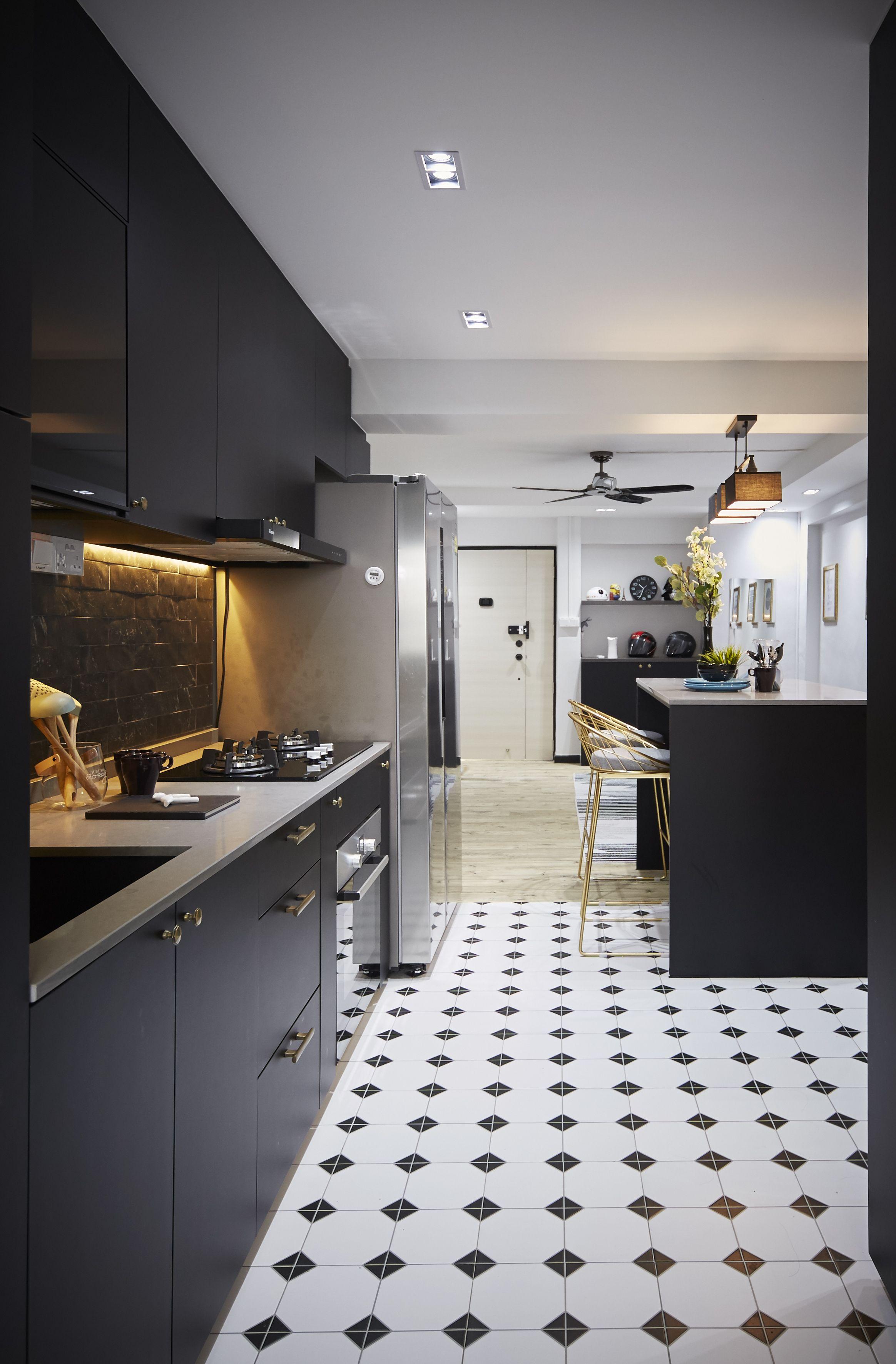 Virtual Kitchen Design Hdb Singapore: Carpenters Interior Design HDB Resale Apartment Design