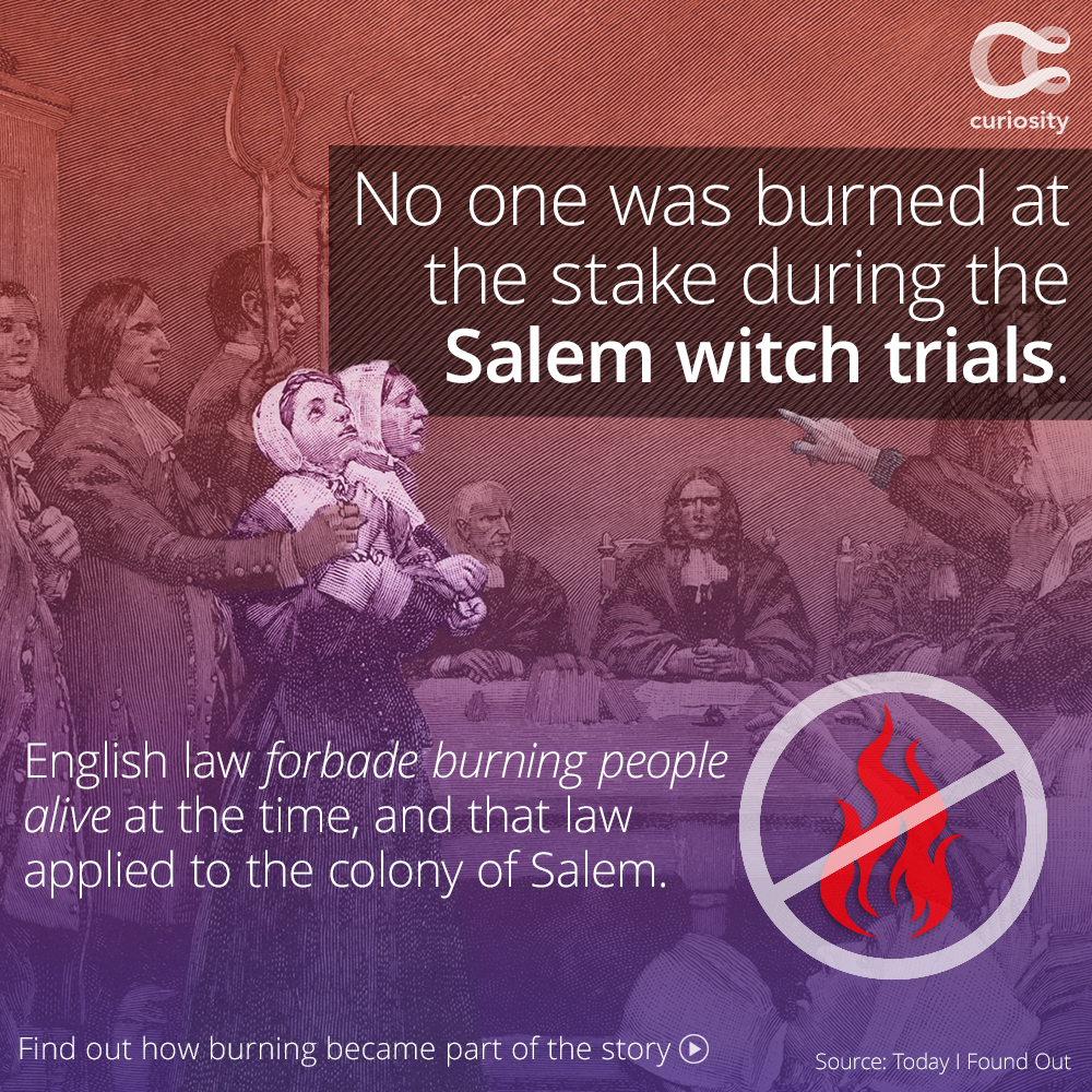 The Story Of The Salem Witch Trials Of 1692 3 Is Often Synonymous With The Burning Of Accused Witches At The Salem Witch Trials Facts Salem Witch Witch Trials