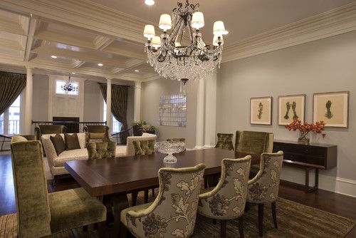 Great Upholstered Chairs Formal Furniture Traditional Dining Room Ideas