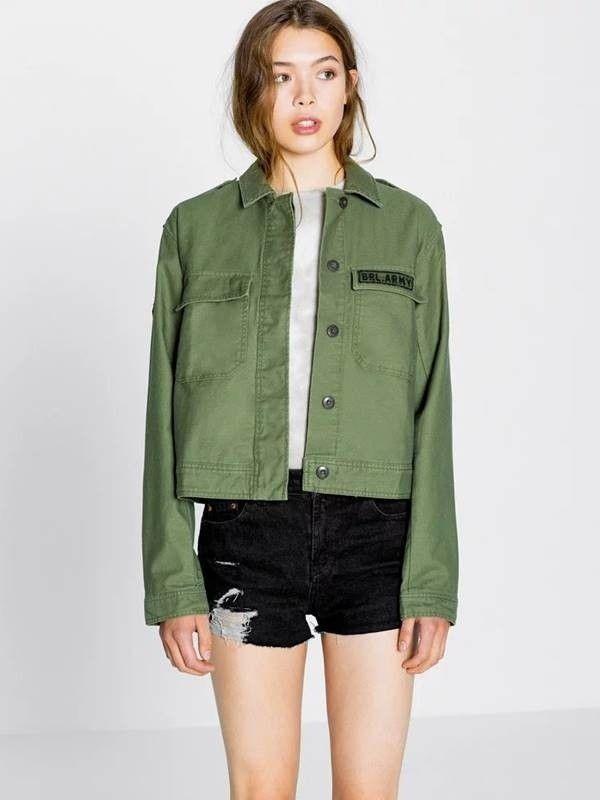 Jaqueta Feminina Verde Militar - Compre Online  c01b208f89918