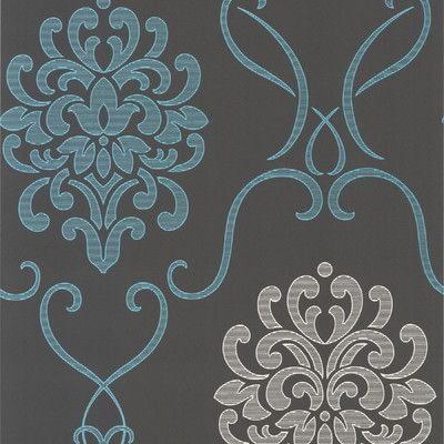 """Accents Suzette Modern 33' x 20.5"""" Damask 3D Embossed"""