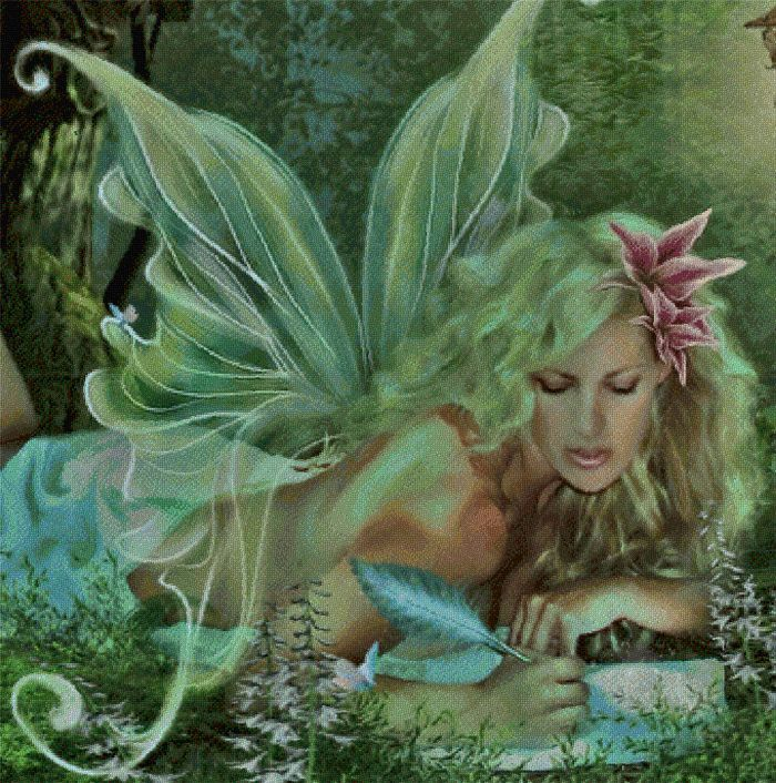 Love Letter Fairy Design By Beverly Robinson Based On the Original Artwork By Kathey Amaral Finished Design Size 421 x 335 16 8W x 15 4H when