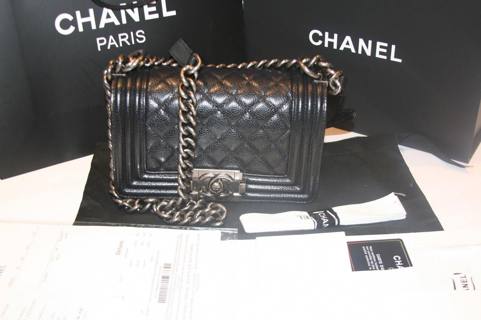 f28a08ede4ec Chanel Le Boy small Caviar Black w  Ruthenium hardware  Chanelhandbags