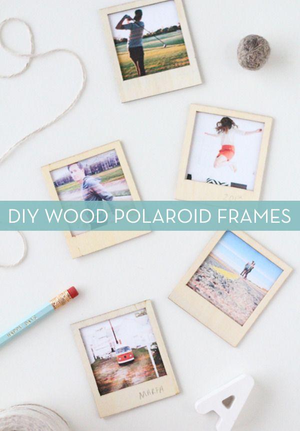 Make It: DIY Wooden Polaroid Picture Frames | Anuarios, Mi futuro y ...