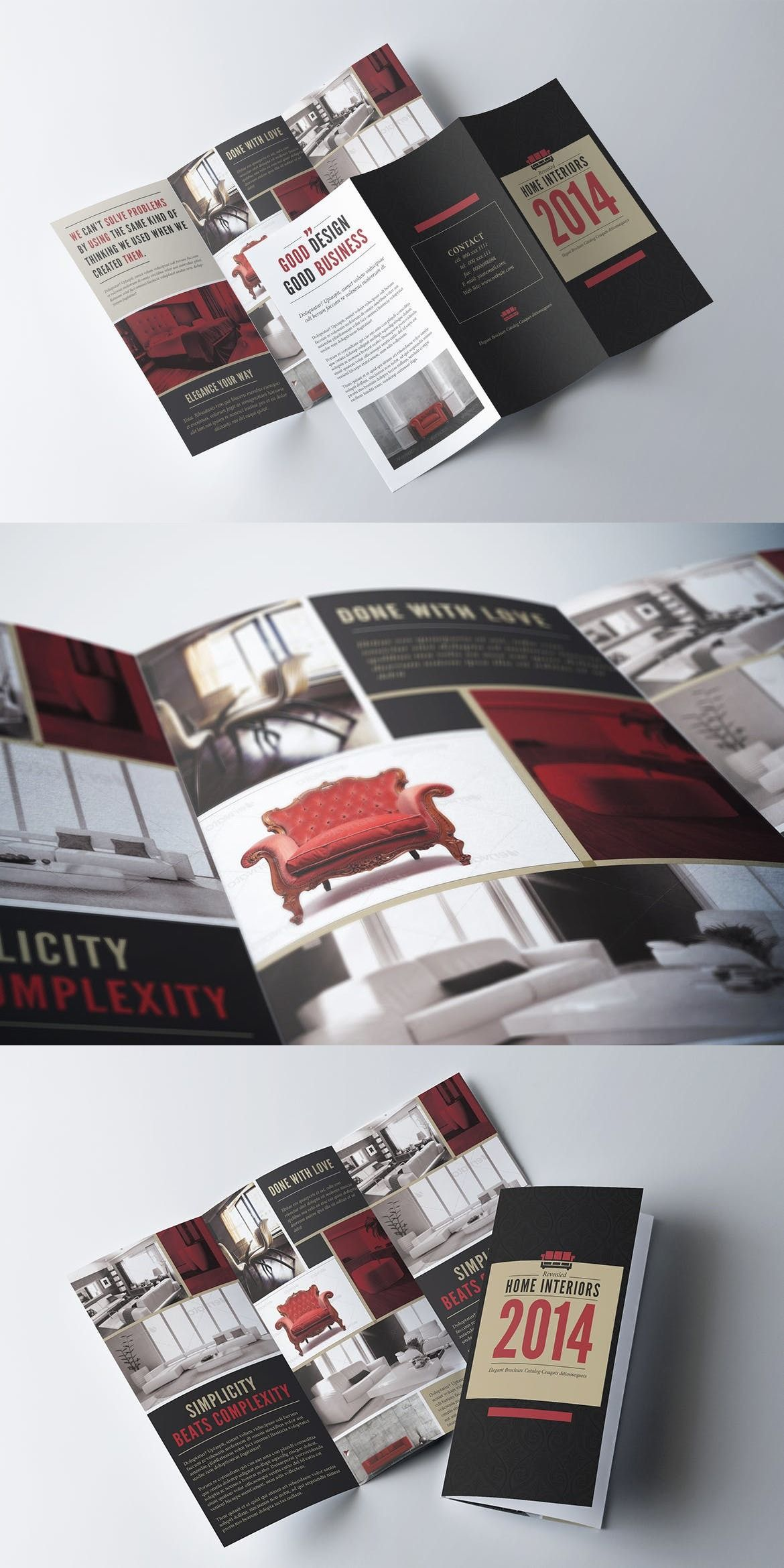 Trifold Brochure Template Adobe Indesign Agency Furniture Unlimited Items On Envato Elements