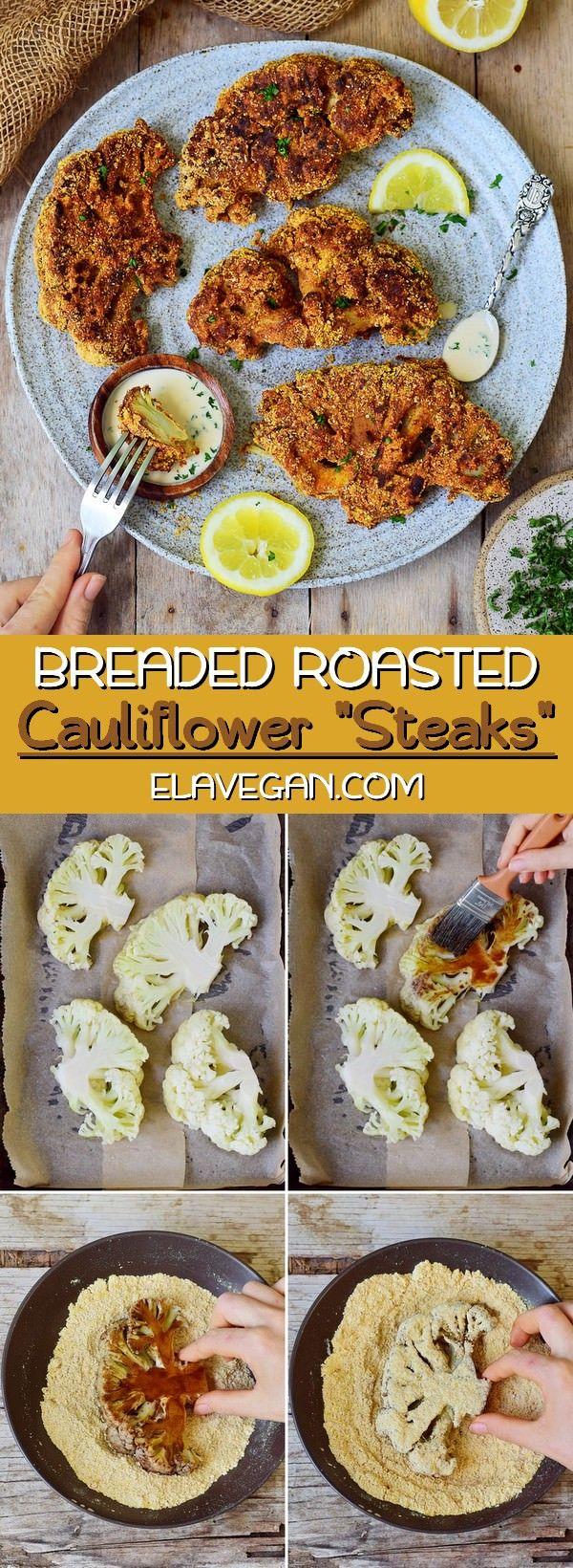 "Photo of Oven Roasted Cauliflower ""Steaks"""