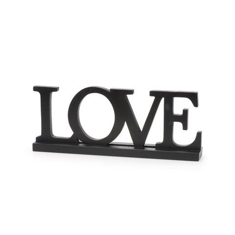 Black Wood Table Top Love Word Sign Plaque  X