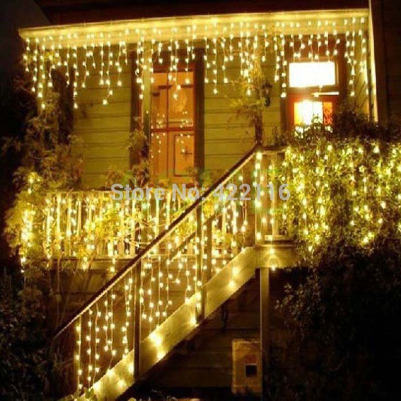 4x06m cortina de led fairy christmas lights waterproof string holiday curtain wedding garlands luci