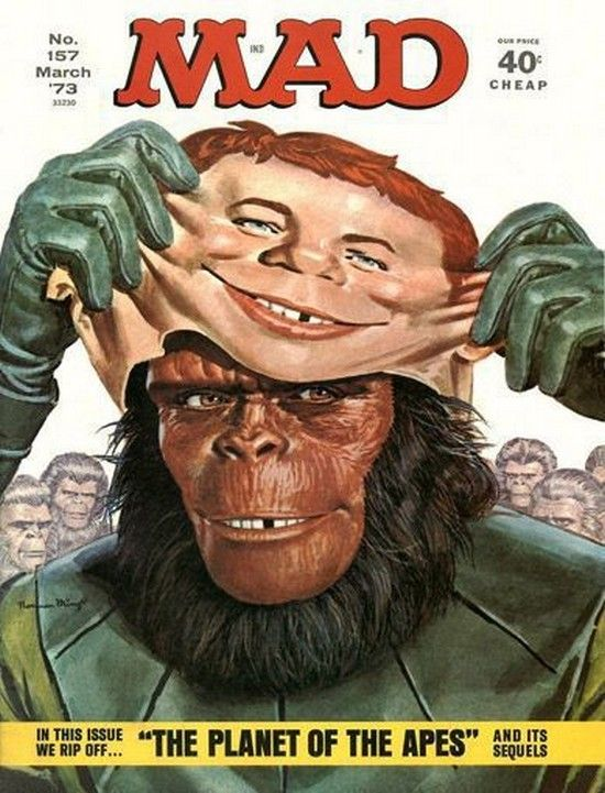 The 10 Greatest 'MAD' Magazine Covers | Mad magazine, Planet of the apes, Magazine  cover